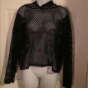 Fishnet long sleeve shirt